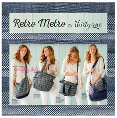 #31 The Retro Metro Collection by Thirty-One expands this Spring/Summer 2018 and includes the NEW Retro Metro Hobo, the Retro Metro Bag, the Retro Metro Fold-Over and the Retro Metro Weekender. Patterns include Mocha Crosshatch, City Charcoal, Twill Stripe, Woodblock Whimsy, Woven Stripe, Fab Flourish and Patio Pop. Check them out at MyThirytOne.com/PiaDavis or find your consultant in the upper right corner of the website.