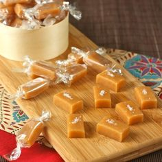 For someone with a such a sweet tooth, I am actually a little surprised that I don't make candies and chocolates more often. Well, since Chris and I had such a great time making these carame. Caramel Treats, Caramel Recipes, Candy Recipes, Sweet Recipes, Holiday Recipes, Dessert Recipes, Chocolates, Caramel Ingredients, Butter Toffee
