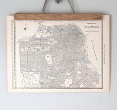 San Francisco 1930s Map / Antique California City Map. $14.00, via Etsy.