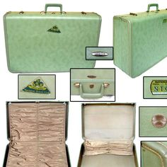 Vintage Late 40s Suitcase / Pin-up Luggage / Rockabilly Luggage / Burlesque Luggage - http://oleantravel.com/vintage-late-40s-suitcase-pin-up-luggage-rockabilly-luggage-burlesque-luggage