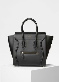 Céline micro luggage in smooth calfskin (black) Celine Bag Luggage 65d87380a379c