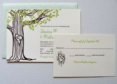 The Lettered Set: Love Tree Wedding Invitations