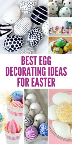 Have you ever seen such AMAZING Easter egg designs? And they're easy enough for the kids to help too!