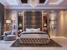 Contemporary Bedroom on Behance Hotel Bedroom Design, Bedroom False Ceiling Design, Master Bedroom Interior, Modern Master Bedroom, Bedroom Decor, Modern Luxury Bedroom, Luxury Bedroom Furniture, Modern Bedroom Design, Contemporary Bedroom