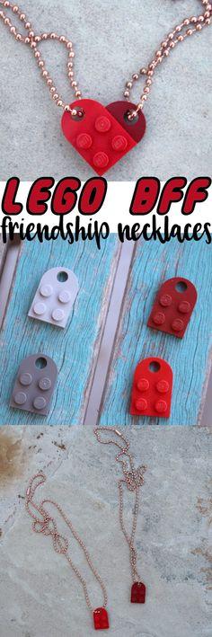 Lego Heart Best Friends BFF Necklace DIY