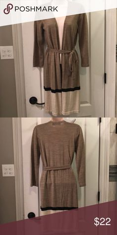 a0d1a279304a Shop Women s The Limited Tan Cream size M Cardigans at a discounted price  at Poshmark. Description  The Limited tan cream black long cardigan