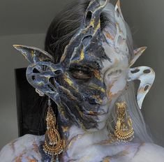 Mask Makeup, Makeup Art, Character Inspiration, Character Design, Drawing Heads, Great Works Of Art, Aesthetic People, Arte Horror, Fantasy Costumes