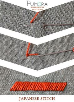 Pumora's embroidery stitch lexicon: the japanese stitch: