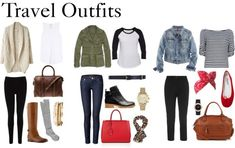 Travel outfits. Mwahaha! And you all thought you were rid of me!
