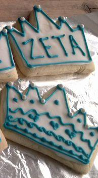 Zeta crown cookies