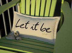 Let it be pillow 12x20  McCartney Beatles musical by crabbychris, $38.00