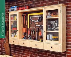 Pegboard Tool Cabinet Plans - Workshop Solutions Plans, Tips and Tricks…