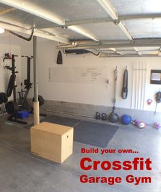 Setting up a Crossfit Garage Gym may be easier than you think! Check out how we organized and set ours up at home. #crossfit #gym #garage