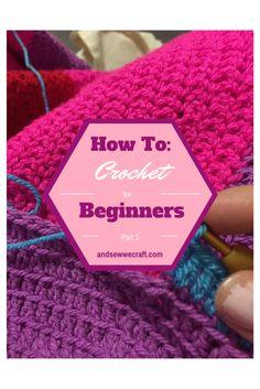 Crochet Diy crochet for beginners Crochet For Dummies, Crochet Stitches For Beginners, Beginner Crochet Tutorial, Beginner Crochet Projects, Crochet 101, Crochet Stitches Patterns, Crochet Geek, Crochet Videos, Crochet Basics
