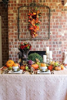 50+ Fall Tablescapes :: Debbie @ Confessions of a Plate Addict's clipboard on Hometalk :: Hometalk