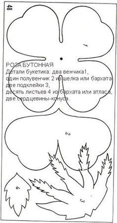 Читать на сайте Nebka.ru Фоамиран. Цветы и шаблоны к ним