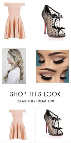 """""""Untitled #26"""" by littlenerdrosey17 ❤ liked on Polyvore featuring Boohoo and Christian Louboutin"""
