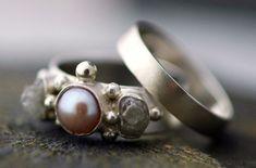 Beautiful Antique Pearl Wedding Ring