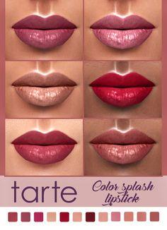 Kenzar Sims: Tarte Color Splash Lipstick • Sims 4 Downloads