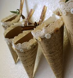 Tussie Mussie Cone-could be used for small bouquets..