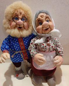 Polymer Clay Crafts, 4x4, Needlework, Teddy Bear, Dolls, Animals, Papa Noel, Creative Crafts, Fabric Dolls