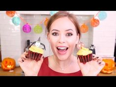 Baking Blood-filled Chocolate Halloween Cupcakes! | Tanya Burr - YouTube