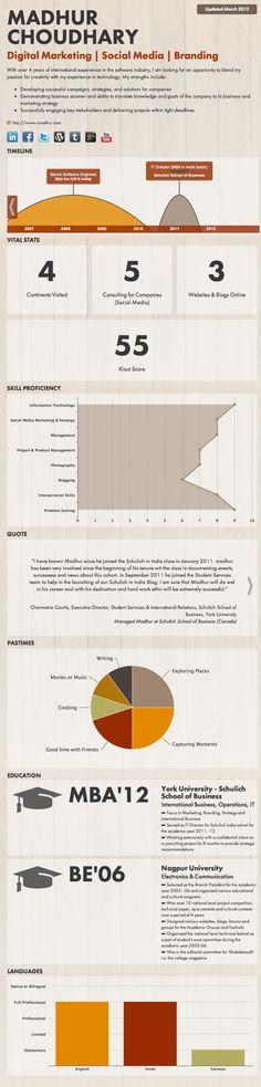 1225 best Infographic Resumes images on Pinterest Resume design