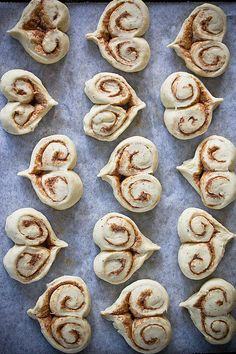 Heart Shaped Cinnamon Buns Photograph by Helena Schaeder Söderberg - Heart Shaped Cinnamon Buns Fine Art Prints and Posters for Sale
