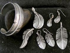 Lena Platero Sterling Silver Feather Jewelry