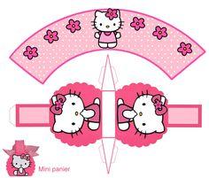 THEME HELLO KITTY POUR FAIRE PLAISIR - 1 et 2 et 3 DOUDOUS * PATRONS* PATTERNS * GABARITS FETE A THEMES POUR ENFANTS