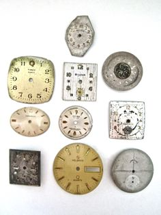 10 Metal Watch Faces.  SOLD