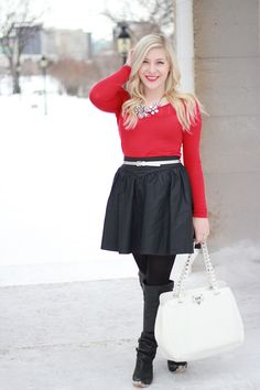 09fb1e5c22 How to wear over the knee boots and still look classy - inspiration from a  Canadian