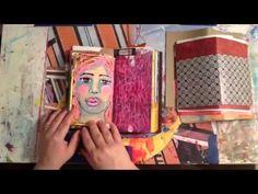 ▶ Midori Traveler's Notebook as an Art Journal - speed video - YouTube