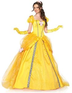 08d5c7c8992d Adult Disney Beauty & the Beast Princess Belle Enchanting Deluxe Dress  Costume Ball Gown,