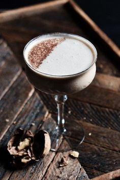 To update the classic Brandy Alexander, Jon Howard reaches for rum and walnut liqueur. | Photo by Angelina Hobbs.