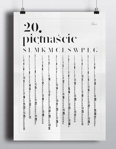 Plakat - kalendarz 2015, polskie święta, 50x70cm w GUMBERRY na DaWanda.com