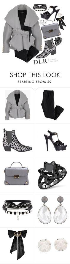 """DLRBOUTIQUE.COM"" by design-it-look ❤ liked on Polyvore featuring Balmain, Yves Saint Laurent, Oscar de la Renta, Chanel and dlrboutique"