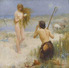 """Arthur Hacker """"The Siren"""" 1897"""