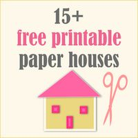 Paper House Template  Holiday Bowtique    House