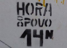 """Viajar e descobrir: Portugal - Coimbra - Stencil """"Hora do povo"""""""