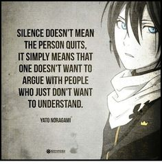 Norgami quotes  Aawww yato. You said some wise words~❤️