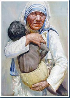 As mãos que ajudam são mais sagradas do que os lábios que rezam. - Madre Tereza de Calcutá