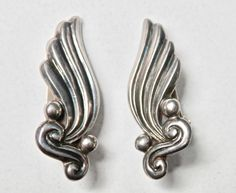Margot de Taxco Earrings, Signed Mexican Silver, Mexican Earrings, Sterling Silver, Modernist Mexican, Mid Century, Vintage Mexican, 925 by TheJewelryChain on Etsy
