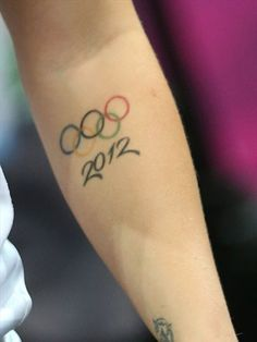 Detail photo of an Olympic tattoo on Kelsi Fairbrother of Great Britain - Women's Handball #Olympics