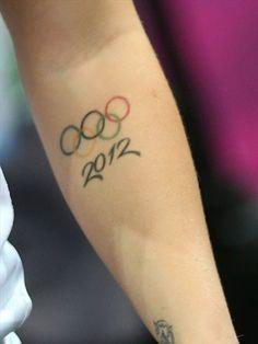 Olympic tattoo on Kelsi Fairbrother of Great Britain - Women's Handball #Olympics