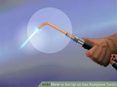 How to Set Up an Oxy Acetylene Torch. An oxy acetylene torch is an affordable and versatile tool used by many people to heat, weld, solder, and cut metal. It uses extreme heat to function, and setting it up properly is one of the most. Submissive, Welding Rods, Metal Welding, Diy Welding, Welding Ideas, Welding Crafts, Welding Torch, Welding Table, History Of Welding