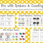 Nearly 150 pages of games, activities, and printables to use with your numbers and counting unit!  Aligned with common core!  $8.50