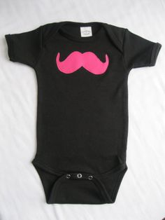 Lil' Hipster Mustache Onesie by ShopMelissa on Etsy, $13.00
