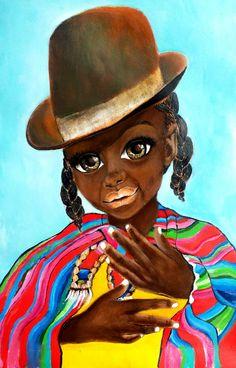 African Art Jovita by SalkisReArt on Etsy