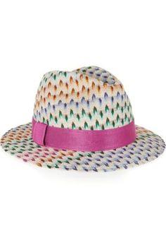 Crochet-knit Panama hat #accessories #women #covetme #missoni